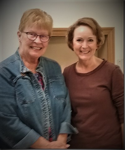 Changing of the guard: Sandy Truman officially retired as the Manager of the Crofton Senior Center.  Mary Sawatzke took over on August 1.